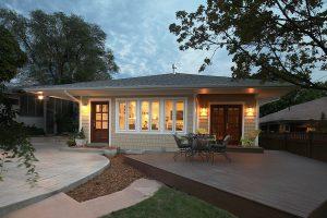 After_Exterior_Tudor_Back patio_Craftsman | Renovation Design Group