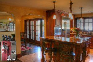 After Tudor interior great room Kitchen Dining | Renovation Design group