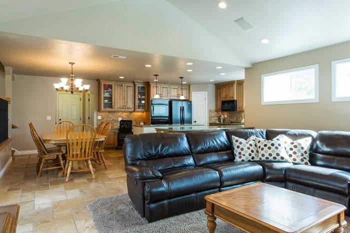 Salt Lake City Utah after great room remodel split level in salt lake city utah | Renovation Design Group