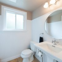 After bathroom in a split level remodel salt lake city utah wainscoting | Renovation Design Group