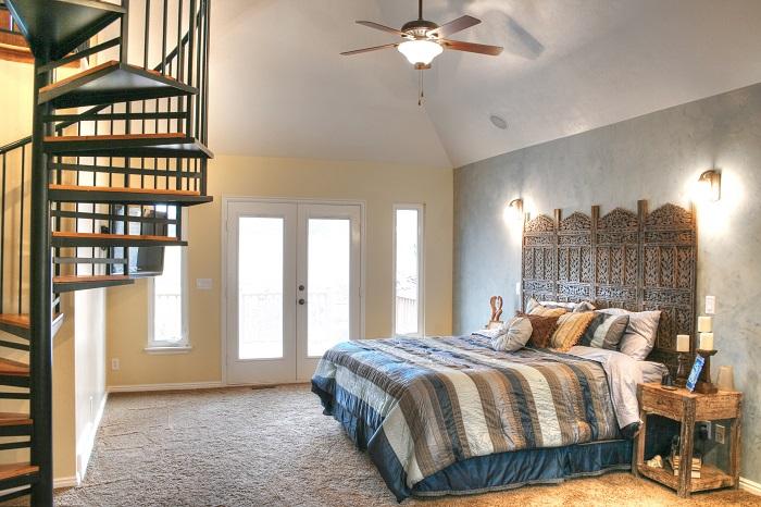 After Interior Remodel Master Bedroom Spiral Staircase hidden Valley Remodel | Renovation Design Group