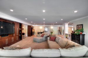 After_Basement Remodel_Family Room_Contemporary Home Renovation Resized | Renovation Design Group