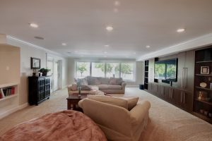 After Whole House Renovation Basement Remodel Living Room | Renovation Design Group
