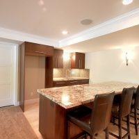 After Whole House Renovation Basement Remodel Bar area | Renovation Design Group