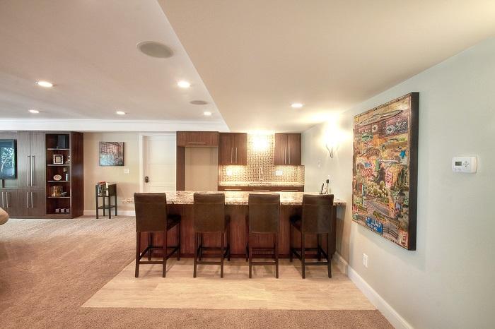 After Whole House Renovation Basement Remodel | Renovation Design Group