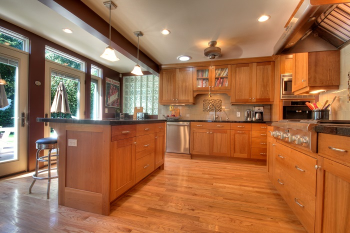 After Interior Remodel Modern Kitchen Renovation 1970's Home Remodel in Milcreek Utah | Renovation Design Group