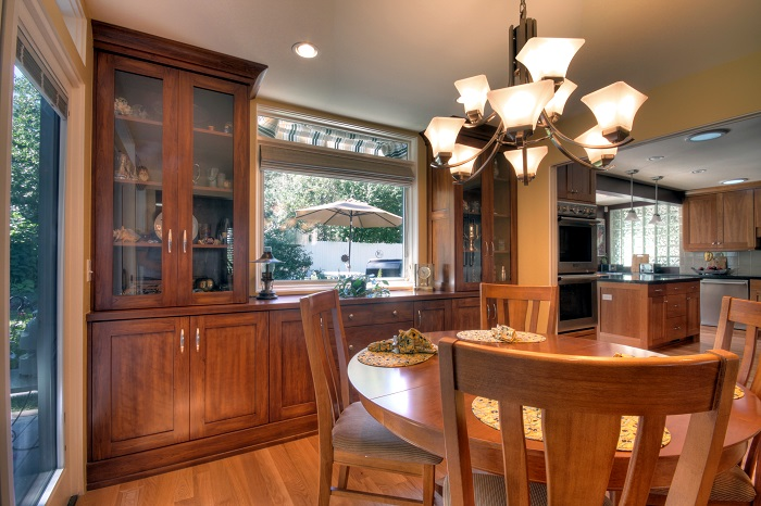 After Interior Dining Room Kitchen Renovation 1970's House Style | Renovation Design Group