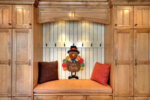 After Interior Built in bench Dining Room Split Entry | Renovation Design Group