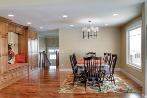 After Interior Dining Room Benches Split Entry | Renovation Design Group