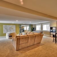 After interior Family Room Basement Split Entry Remodel | Renovation Design Group