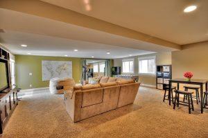 After interior Family Room Basement Split Entry Remodel | Renovation Design Group