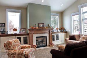 After Interior Living Room, Tall Ceilings, vaulted Ceilings, Living Room Remodel, Split Level Home | Renovation Design Group