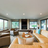 After_Interior_Lower Level Split Level_Family Room Modern | Renovation Design Group