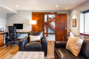 After_Interior_Lower Level Split Level_Family Room Modern | Renovation Design Group