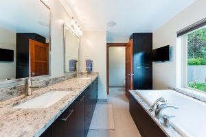 After_Interior_Master Bathrooms_Modern Bathroom Ideas_Contemporary Split Level Home | Renovation Design Group