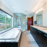After_Interior_Master_Master Bath with walk in shower_Modern Split Level Remodel | Renovation Design Group