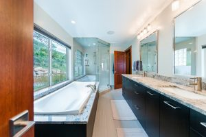 After_Interior_Master_Master Bath with walk in shower_Modern Split Level Remodel | Renovation Design Group