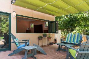 After, Exterior, back porch, pergolas, sun shades | Renovation Design Group