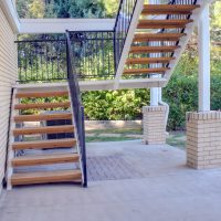 After_Exterior Renovation_Stairs_Rear Porch Remodel | Renovation Design Group