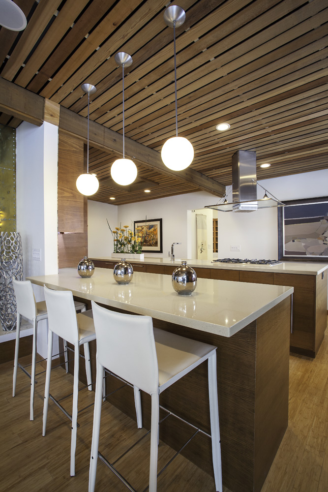 790_Interior_After_Kitchen_Modern Kitchen Design_Wood Palet celings_Mid Century modern home | Renovation Design Group