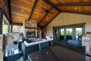 Deck Addition Project with Beautiful Outside Fireplace | Renovation Design Group