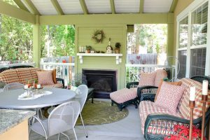 After_Back Porch Remodel_Outdoor Fireplace_Renovation Design Group | Renovation Design Group