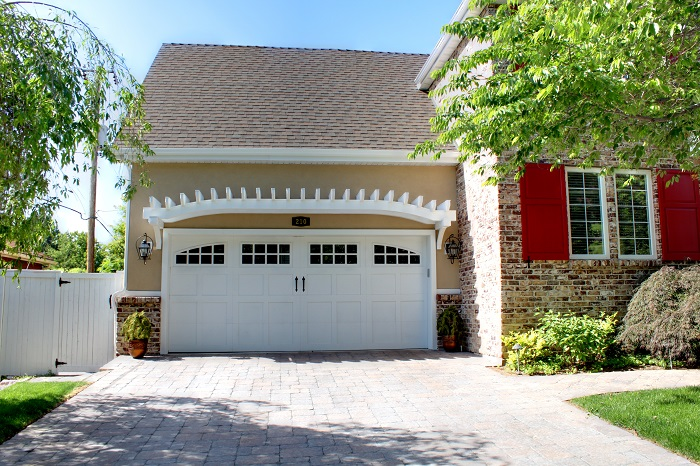 After_Exterior Remodel_Garage Doors_1980's Home Upgrade | Renovation Design Group