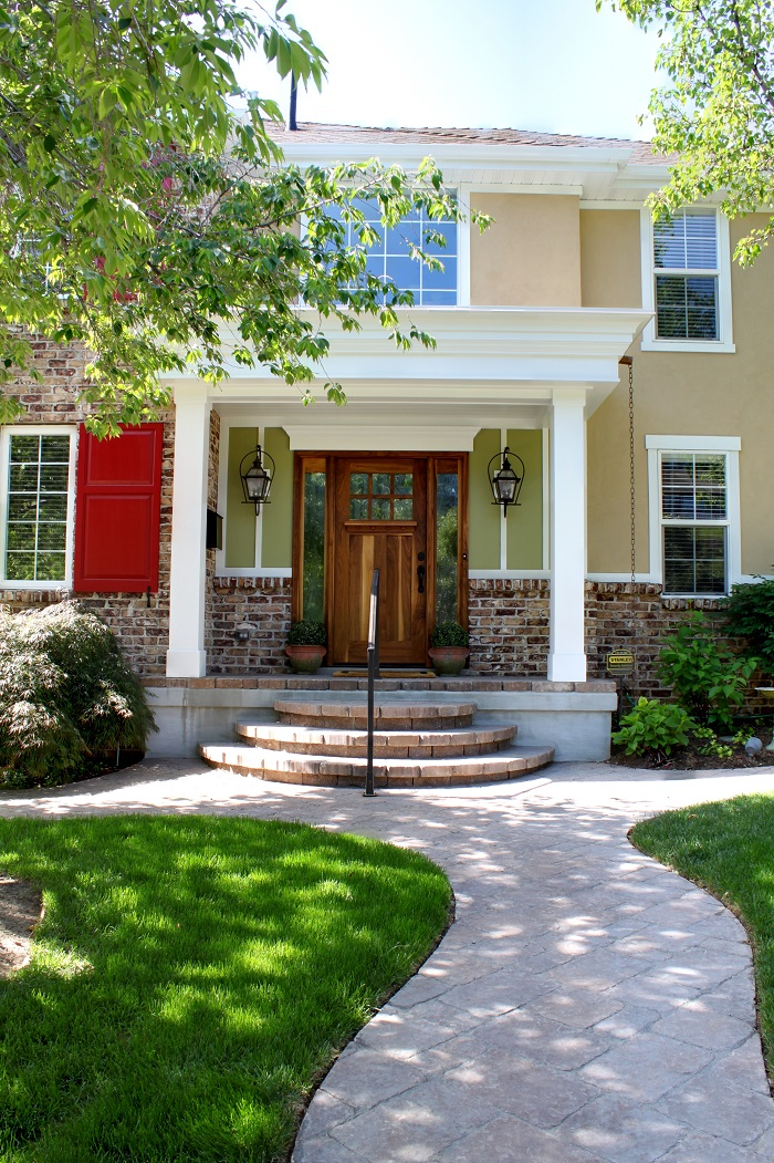 After_Front Exterior Renovation_Front Door_Front Porch Curb Appeal | Renovation Design Group