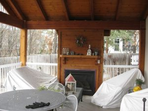 Before_Exterior Renovation_Outdoor Fireplace_Back Porch Remodel | Renovation Design Group