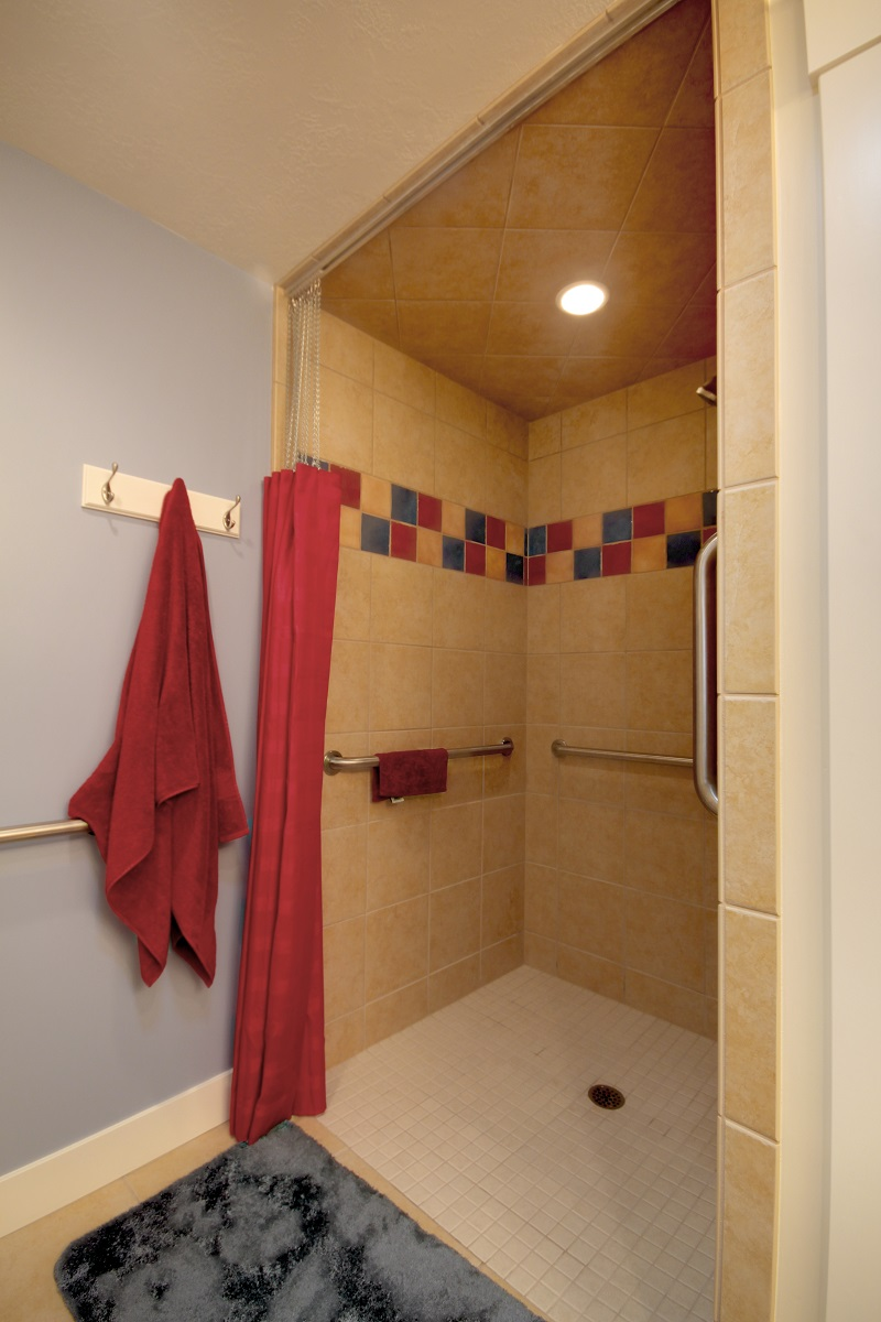 _After_Interior_Bathroom Remodels_Walk in showers_decorative Tiling_1980's Home Update_handicapped Accessible | Renovation Design Group