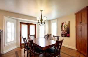 After_Interior_Dining Room_Dining Room Remodels_ Great Room Remodels_French Doors_Built in cabinetry | Renovation Design Group