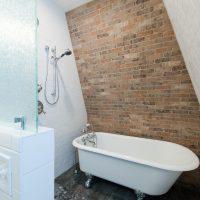 Brick Wall Bathroom Victorian Designs | Renovation Design Group