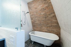 Brick Wall Bathroom Victorian Designs   Renovation Design Group