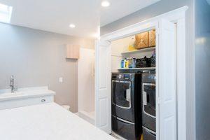 Hidden washer and Dryer Large Mudroom Addition   Renovation Design Group