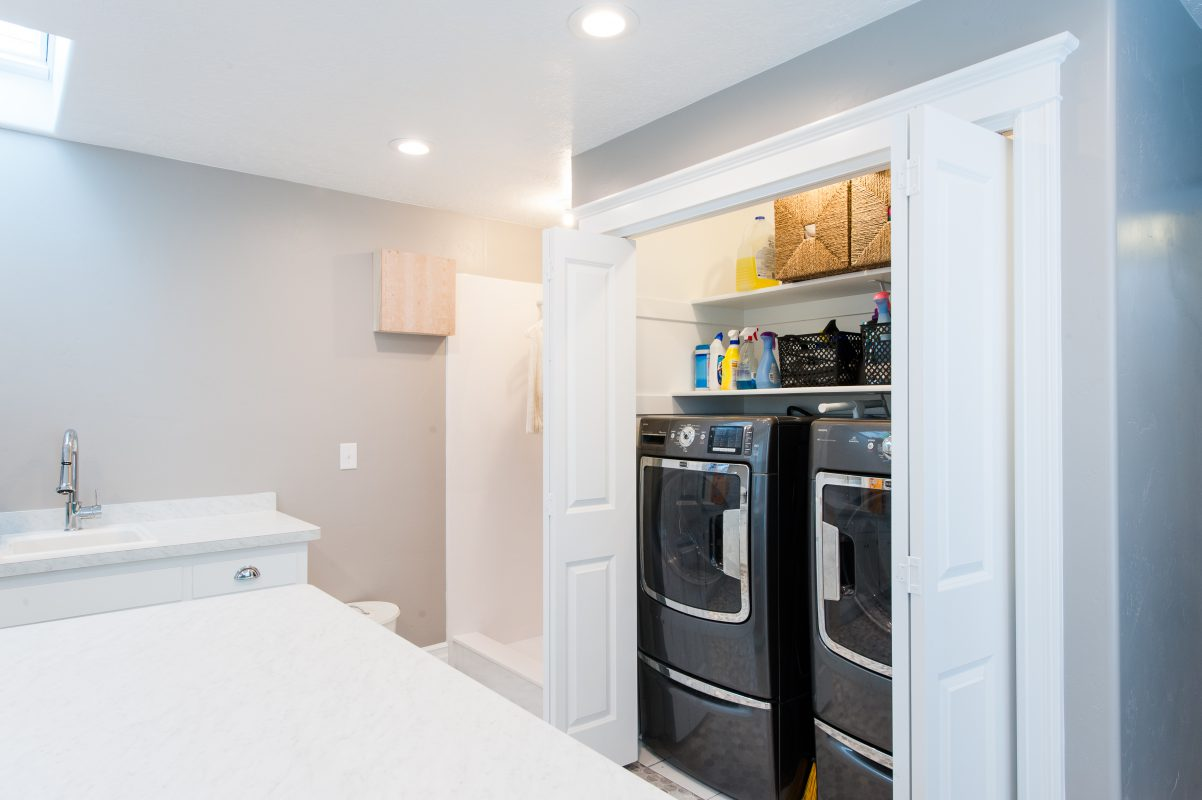 Hidden washer and Dryer Large Mudroom Addition | Renovation Design Group