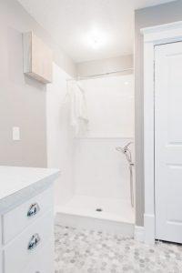 Mudroom with Dog Shower | Renovation Design Group