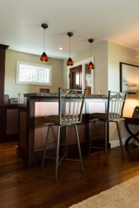 Cottonwood Club Split Level Interior Basement Wine Room by Renovation Design Group