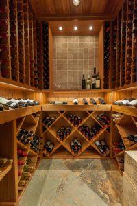 Cottonwood Club Split Level Interior Basement Wine Cellar by Renovation Design Group