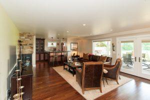 Cottonwood Club Split Level Interior Basement Remodel by Renovation Design Group
