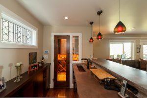Cottonwood Club Split Level Interior Basement Family Room Renovation by Renovation Design Group