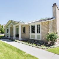 After, exterior, front porches, curb appeal, ranchers, 1970's built | Renovation Design Group