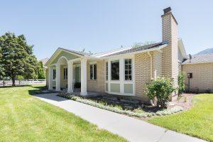 After, exterior, front porches, curb appeal, ranchers, 1970's built | Renovation Design Group