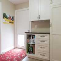 After, Interior, Mudroom, LAunry Room, Ranch Home, Dog Door, Pet door | Renovation Design Group