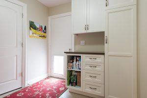 After, Interior, Mudroom, LAunry Room, Ranch Home, Dog Door, Pet door | Renovation Design Group