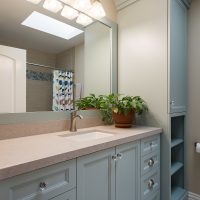 After, MAster, MAster Suite, Bathroom, Blue Bathroom Cabinets, Traditional style | Renovation Design Group