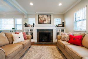 modern traditional family room | Renovation Design Group