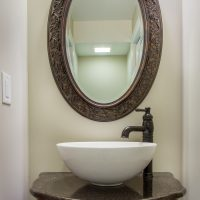 After_Interior Renovations_Powder Room_Small Bathroom Ideas | Renovation Design Group