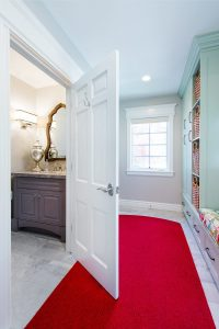 After_Interior_Mudroom_Two-Story-Minimal-Traditional Mudroom with custom dog bed   Renovation Design Group