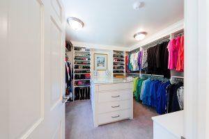 master suite large Master closet | Renovation Design Group