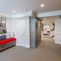 basement Remodel Wall bench build in | Renovation Design Group